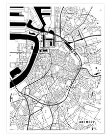 Main Street Maps - Antwerp Belgium Map