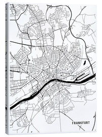 Canvas  Frankfurt Germany Map - Main Street Maps