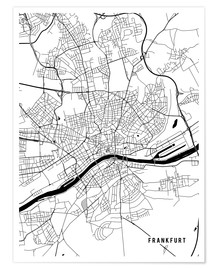 Premium poster Frankfurt Germany Map