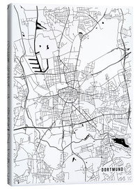 Canvas print  Dortmund Germany Map - Main Street Maps