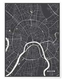 Main Street Maps - Moscow Russia Map