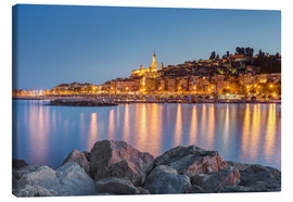 Canvas  Menton on the Côte d'Azur, France - Michael Valjak