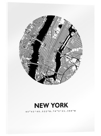 Acrylic print  City map of New York - 44spaces