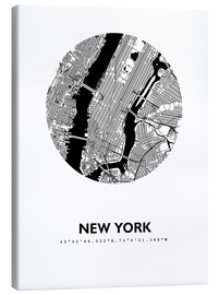 Canvas  City map of New York - 44spaces