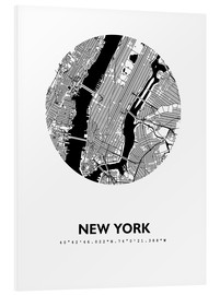 Foam board print  City map of New York - 44spaces