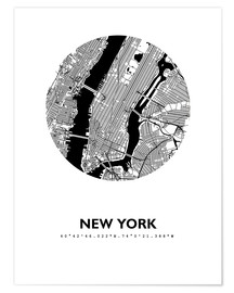 Premium poster City map of New York