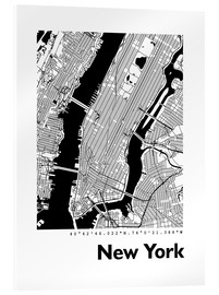 Acrylic glass  City map of New York - 44spaces