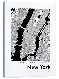 Canvas print  City map of New York - 44spaces