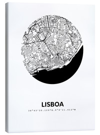 Canvas print  City map of Lisbon - 44spaces