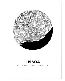 Premium poster City map of Lisbon
