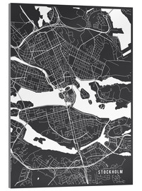 Acrylic glass  Stockholm Sweden Map - Main Street Maps
