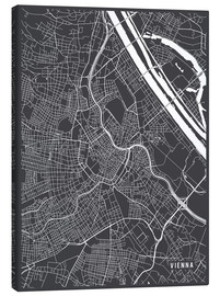 Canvas print  Vienna Austria Map - Main Street Maps