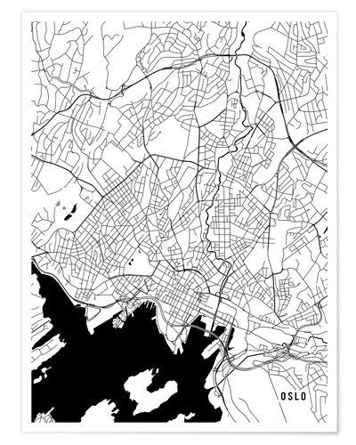 Premium poster Oslo Norway Map