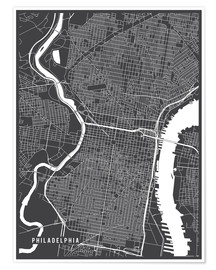 Premium poster Philadelphia USA Map