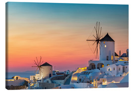 Canvas print  Santorini sunset - Dieter Meyrl