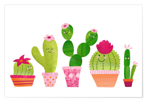 Poster Cactuses in the pot