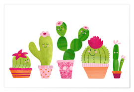 Premium poster Cactuses in the pot
