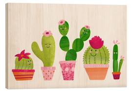 Wood  Cactuses in the pot - Sandy Thißen