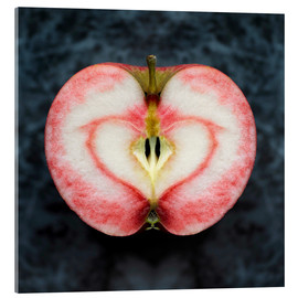 Acrylic print  Symmetrical apple with red heart - Cultura/Seb Oliver