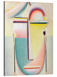 Aluminium print  Abstract head, pervading light - Alexej von Jawlensky