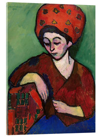 Acrylic print  Helene with Colored Turban - Alexej von Jawlensky