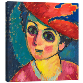 Canvas print  Woman's head - Alexej von Jawlensky