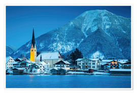 Premium poster Tegernsee at night