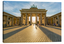 Canvas  Brandenburg Gate and Pariser Platz - Westend61