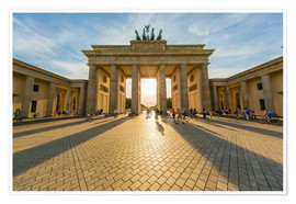Premium poster  Brandenburg Gate and Pariser Platz - Westend61