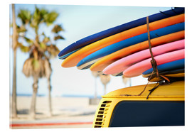 Acrylic print  Multi-coloured surfboards - Image Source