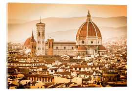 Acrylic glass  Cityscape with Cathedral and Brunelleschi Dome, Florence - Cubo Images