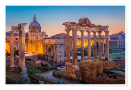 Poster  The Roman Forum - age fotostock