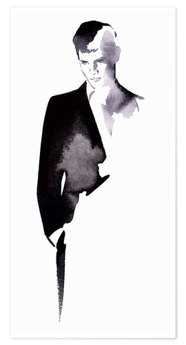 Premium poster Business man in a suit