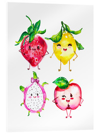 Acrylic glass  Naughty fruits - Ikon Images