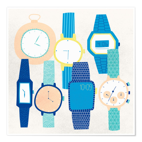 Premium poster Collection of wristwatches