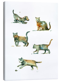 dieKleinert - Cats and dog watercolor