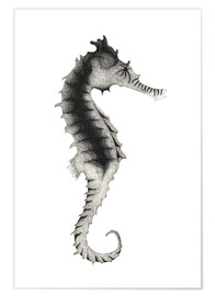 Premium poster Seahorses made of dots