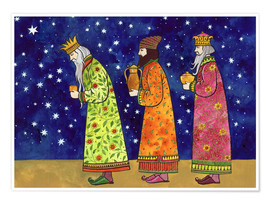 Premium poster  Three kings with their gifts