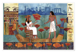 Premium poster  Egyptian couple on the Nile