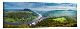 Canvas  The Elbe in Saxon Switzerland