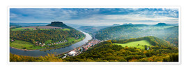 Premium poster  The Elbe in Saxon Switzerland