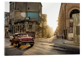 Acrylic print  Vintage car on the streets of Havana - Novarc