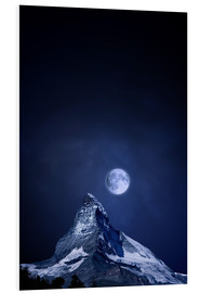 Forex  Matterhorn in a full moon night - BY