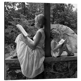 Aluminium print  Mother and daughter are reading - SuperStock