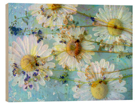 Wood print  Montage of morning flowers - Alaya Gadeh