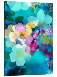 Aluminium print  Flowers in the water - Alaya Gadeh