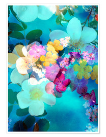 Premium poster Flowers in the water