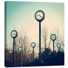 Canvas print  many watches in the watch park - Chromorange