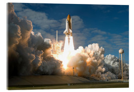 Acrylic print  Space shuttle Atlantis lifts off