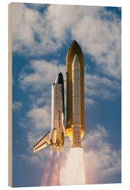 Wood print  Space Shuttle Atlantis - Stocktrek Images